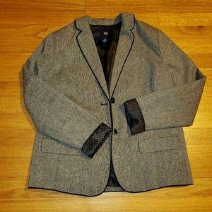GAP Blazer With Polka-dot Cuff & Back Collar